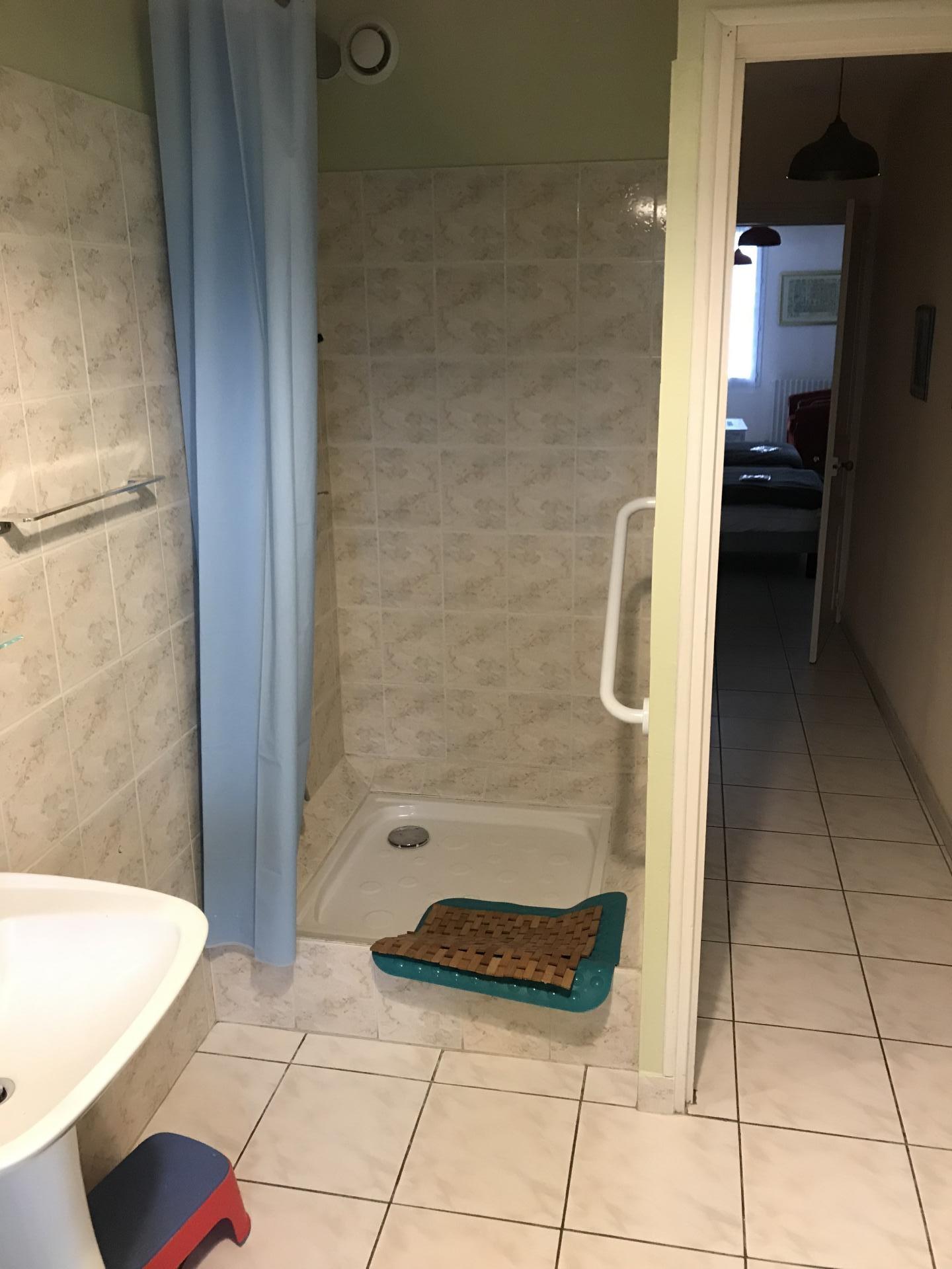 douche très confortable