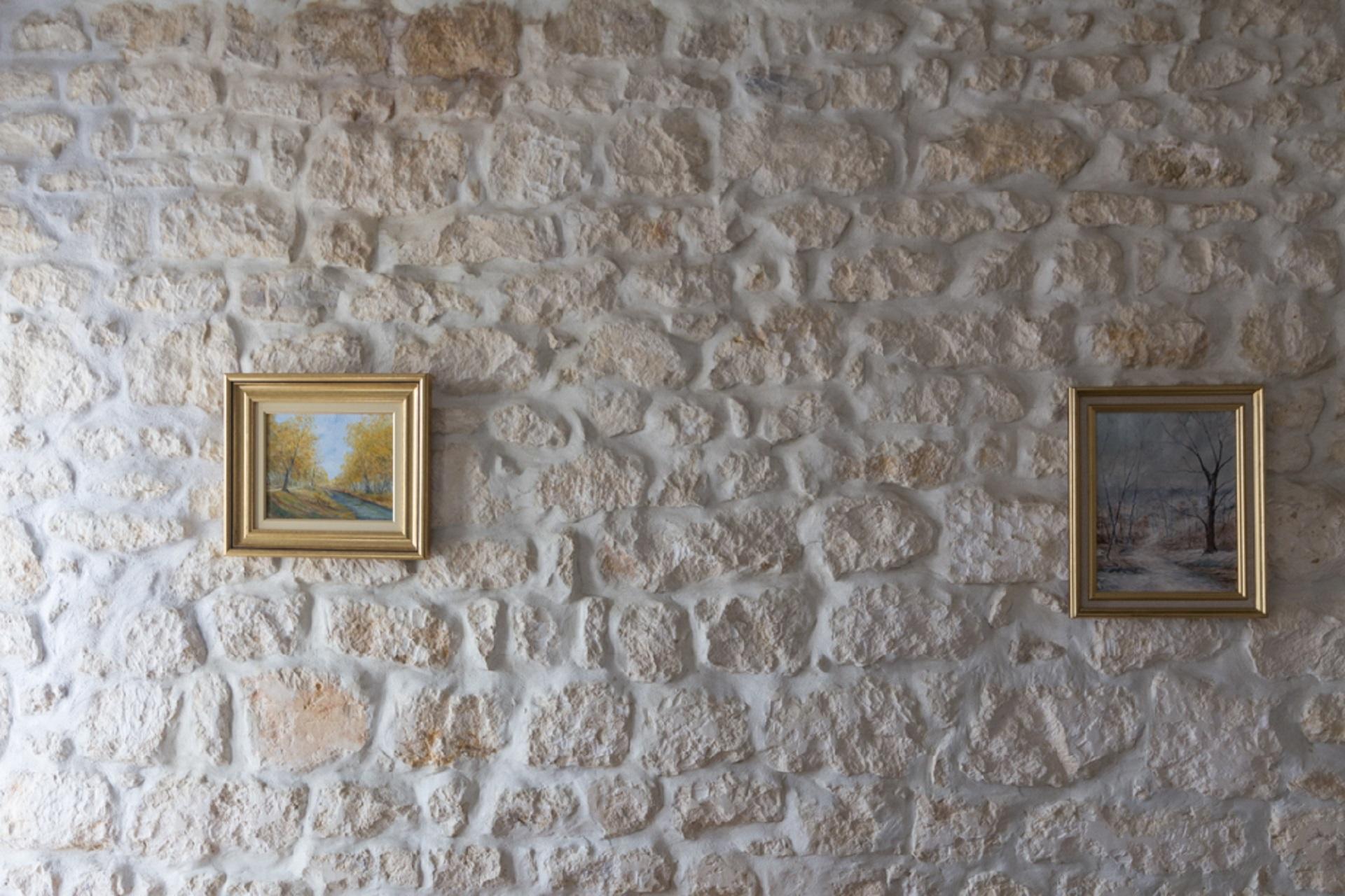 mur en pierre apparente